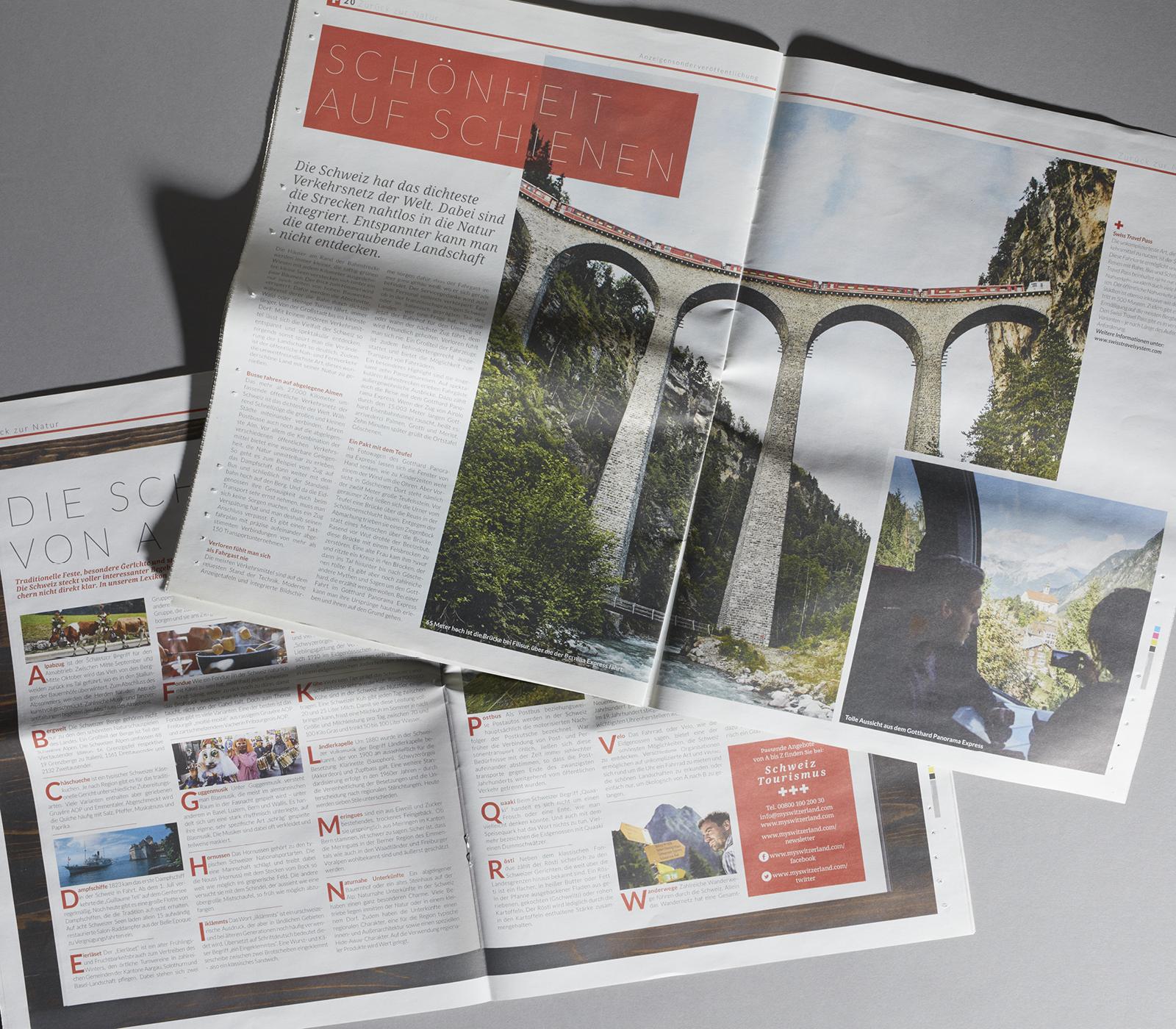 Swiss Tourismus — Sondermagazin